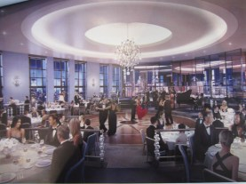 Rendering of Rainbow Room renovation. Image Courtesy: Gabellini Sheppard.