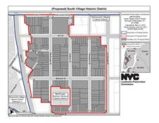 Map of proposed South Village historic district. Image Credit: LPC.