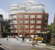 Rendering of proposed mixed-use building at 130 Seventh Avenue South, Manhattan. Image Credit: Gruzen Samton Architects.
