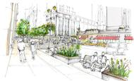Public Realm rendering from East Midtown Rezoning Proposal. Image courtesy of DCP.