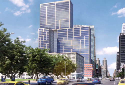Rendering of the development proposed for 606 W 57th Street. Image Credit: TF Cornerstone.
