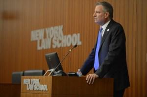 Mayor De Blasio addresses 400 Ethics Conference Participants.