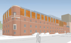 Rendering of St. Luke's additions.  Image Courtesy of ABA Studios