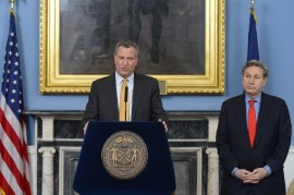 Naming Carl Weisbrod CPC Chair was only one of many major land use appointments of Mayor De Blasio. Image Credit: Mayor's Office.