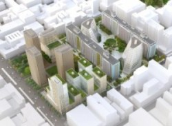 NYU superblock development as originally proposed. Image credit: NYU.