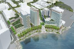 Architect rendering of the proposed Astoria Cove development project.  Image Credit:  Studio V