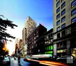 Rendering of proposed building for 39-41 West 23rd Street. Image credit: COOKFOX Architects