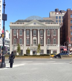 A proposed rendering of the renovated Tammany Hall.  Image credit: BKSK Architects