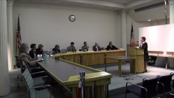 Robin Kramer testifies before the Board of Standards and Appeals. Image credit: BSA