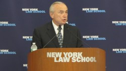 New York Police Commissioner William Bratton addresses the 129th CityLaw Breakfast. Image credit: CityLand