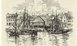 Sketch of the New York City Slave Market. Image credit: New York Public Library