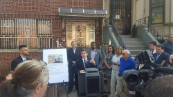 Council Member Gentile holds rally on new illegal conversation bill. Image Credit: Council Member Gentile's Office.