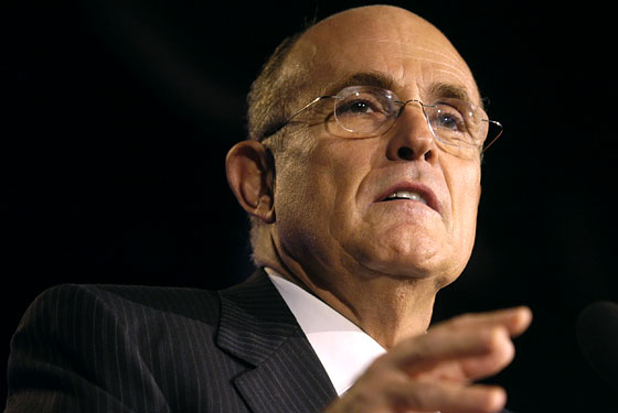 Rudy Giuliani, thinking about 2012?