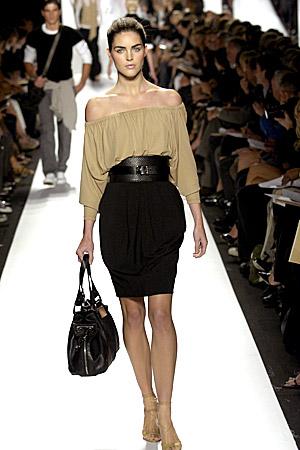 Michael Kors cocoon skirt & peasant blouse