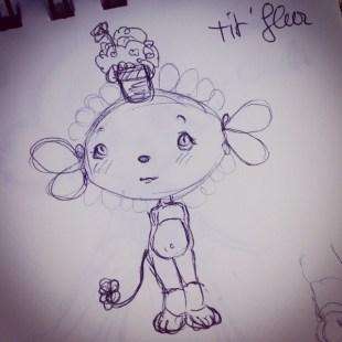 tit'fleur drawing