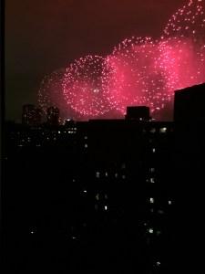 July 4. 2016 Fireworks from window