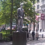 """This is a real person who does not move. I call him the """"live"""" silverman statue"""