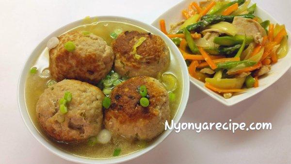 vegetable, pork balls,