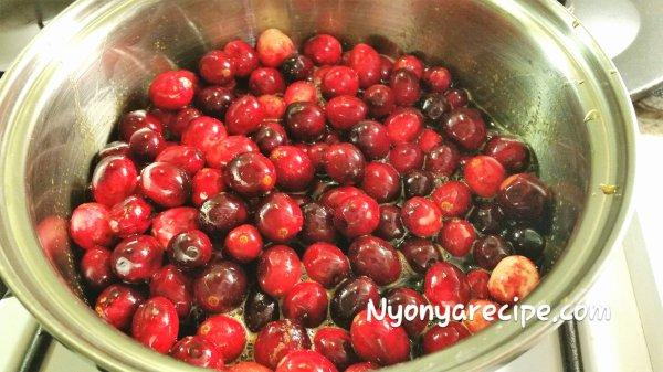 Xmas, cranberry sauce