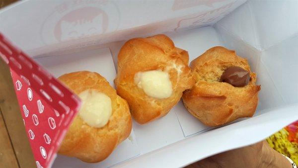 choux pastry, durian, matcha, chocolate,Penang,