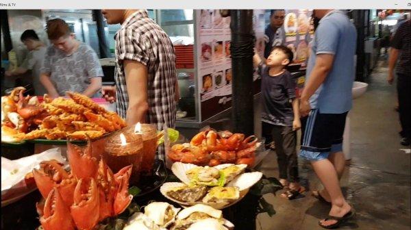 Penang, hawker food, fish, crabs,
