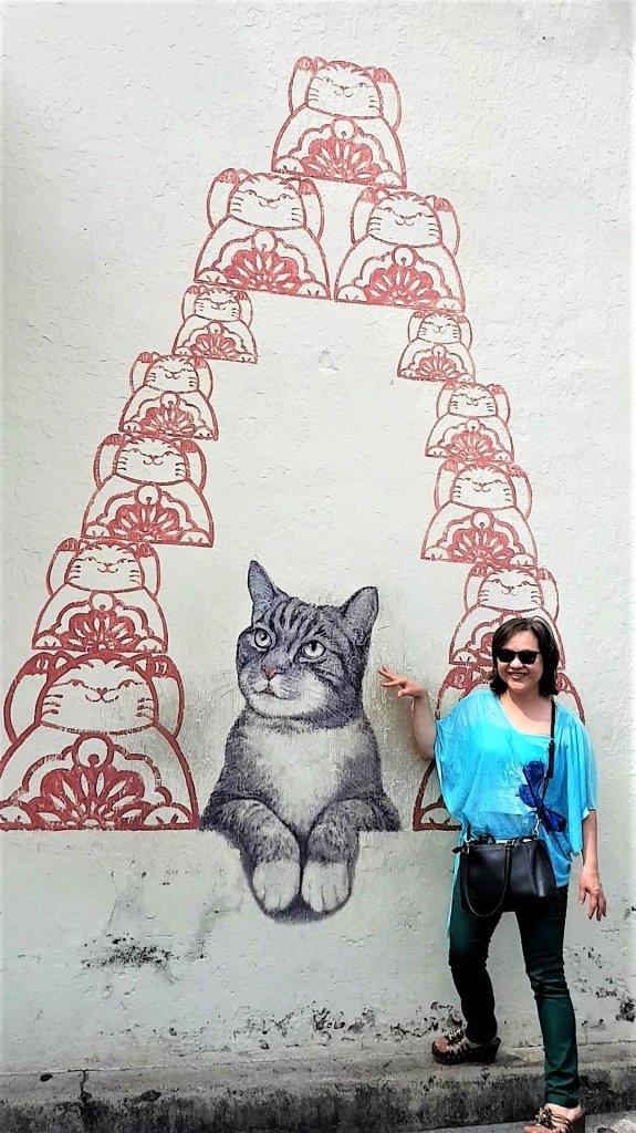 Penang Street Art, Cat, Heritage, George Town