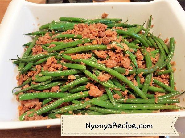beans, vegetarian, preserved turnip, Nyonya, chye poh, Penang, nyonya,