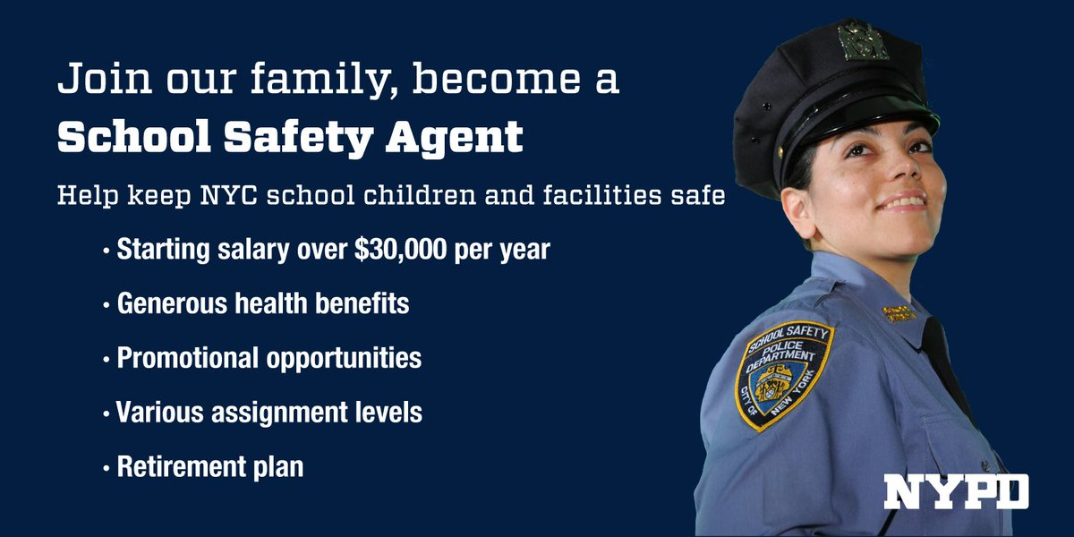 Join The NYPD By Becoming A School Safety Agent or A Traffic
