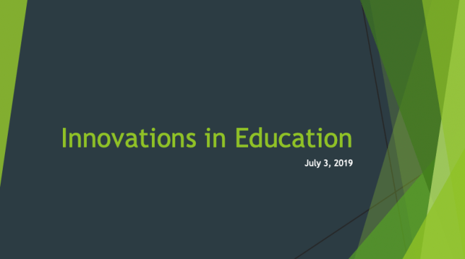 Innovations in Education - Gina Waight