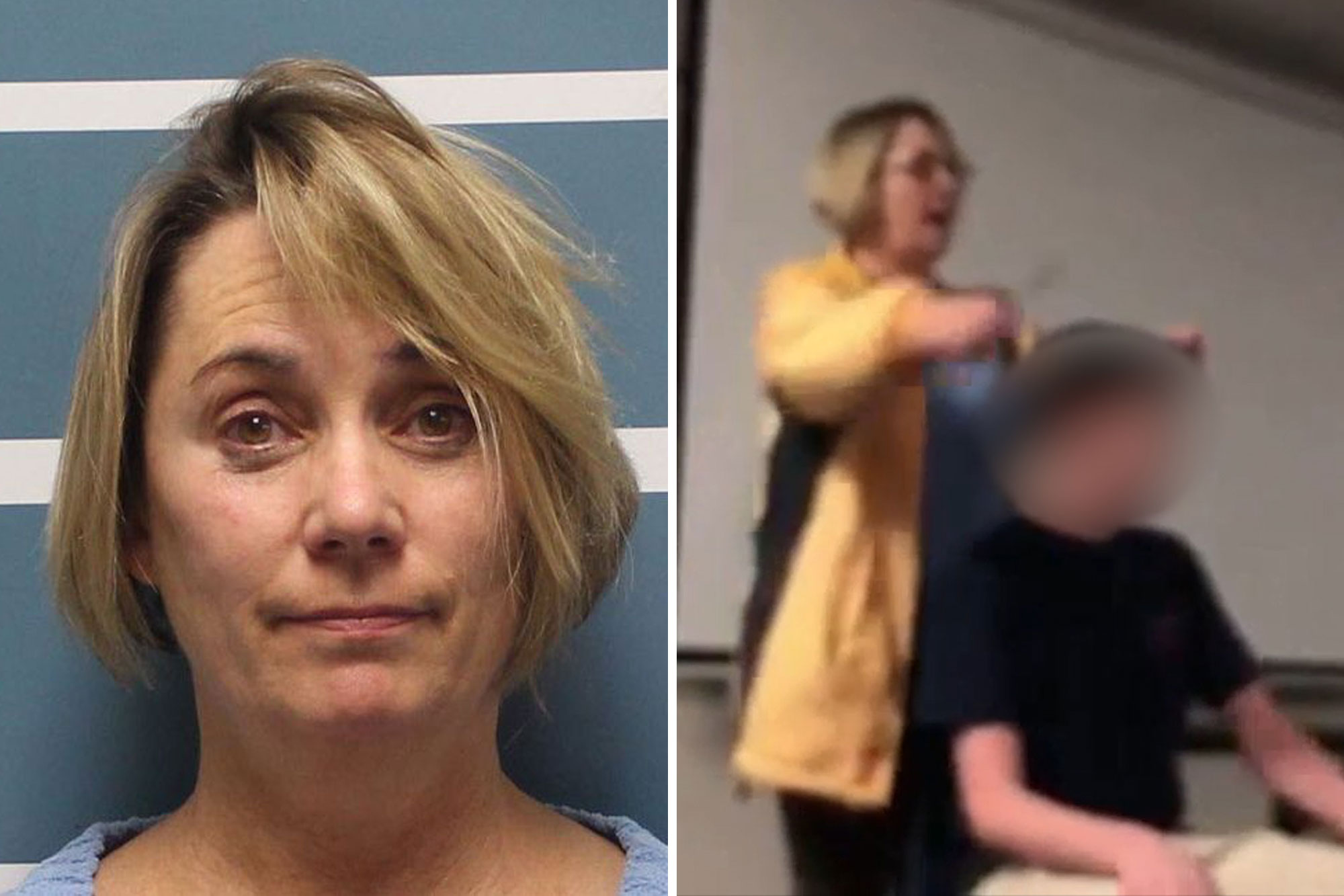 Teacher cuts students hair during class while singing National Anthem