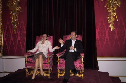 Ghislaine Maxwell and Kevin Spacey Buckingham Palace thrones