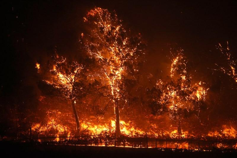 Glass Fire in California