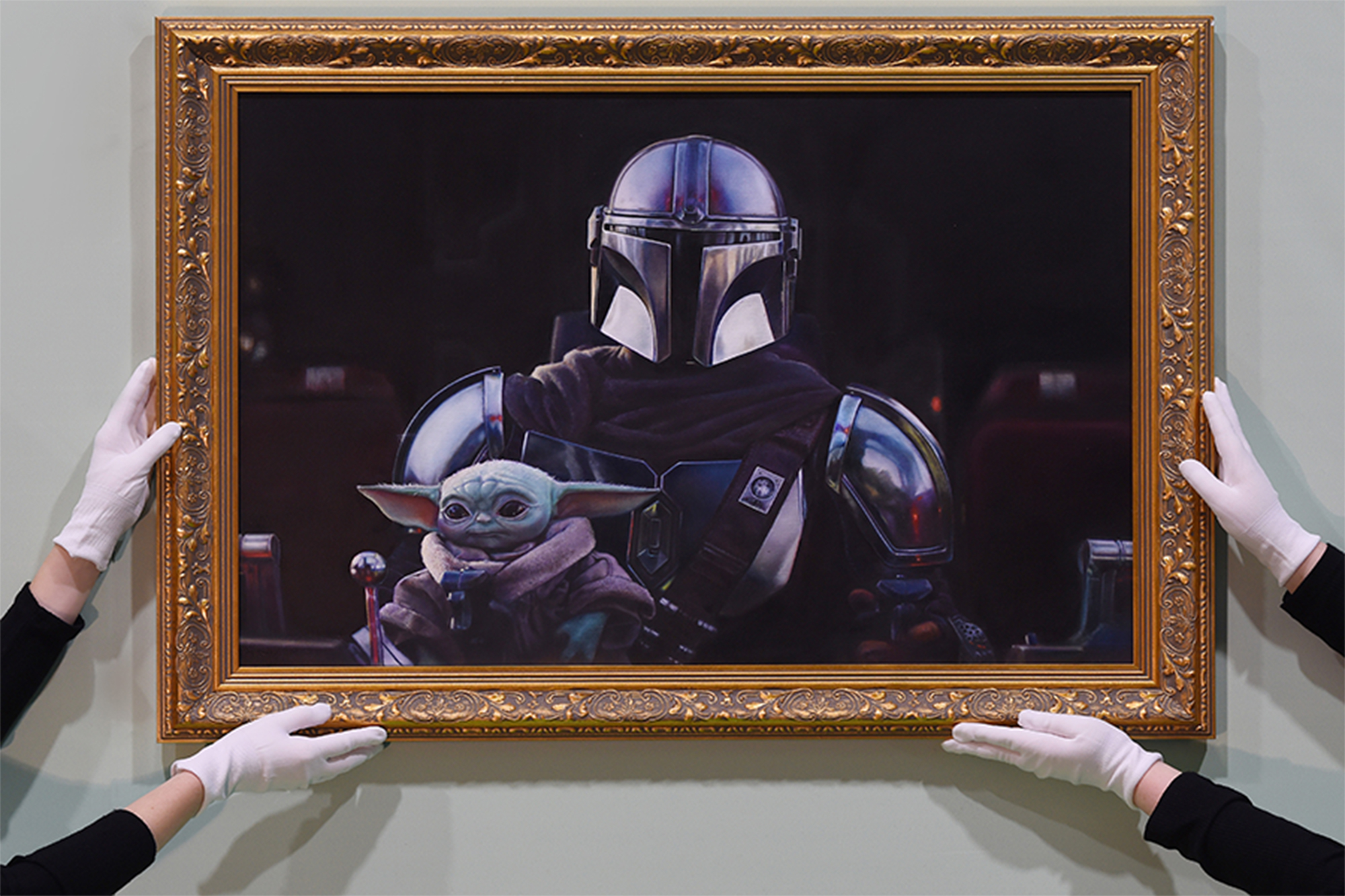 Baby Yoda gets official portrait at National Portrait Gallery