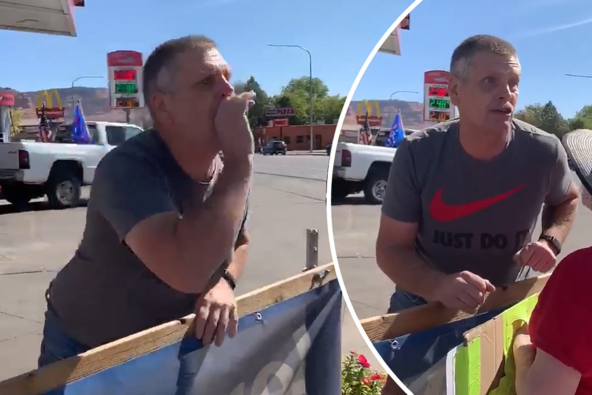 Utah man who coughed on BLM protesters apologizes — sort of