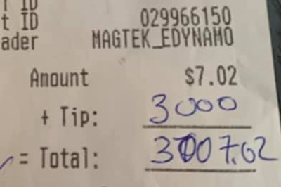Ohio Man Tips 3000 USD As Tip For 7 USD bill