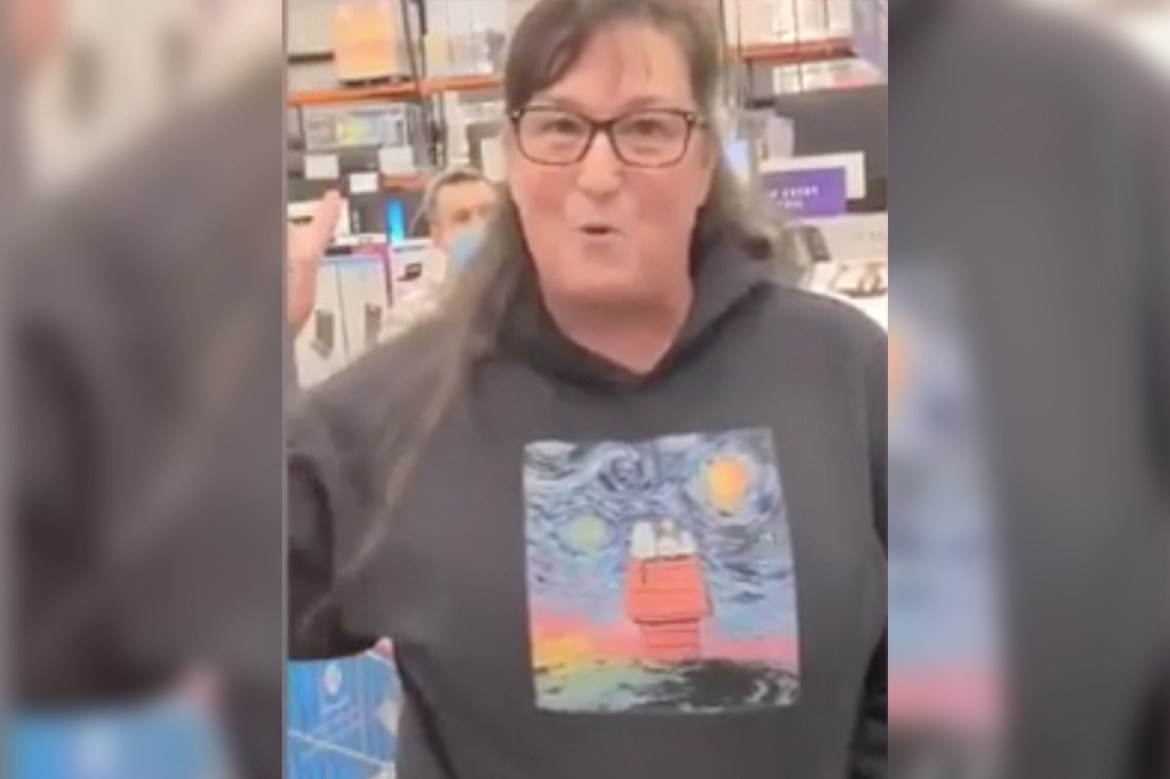 Cops handcuff woman who went on maskless rant in California Costco 1