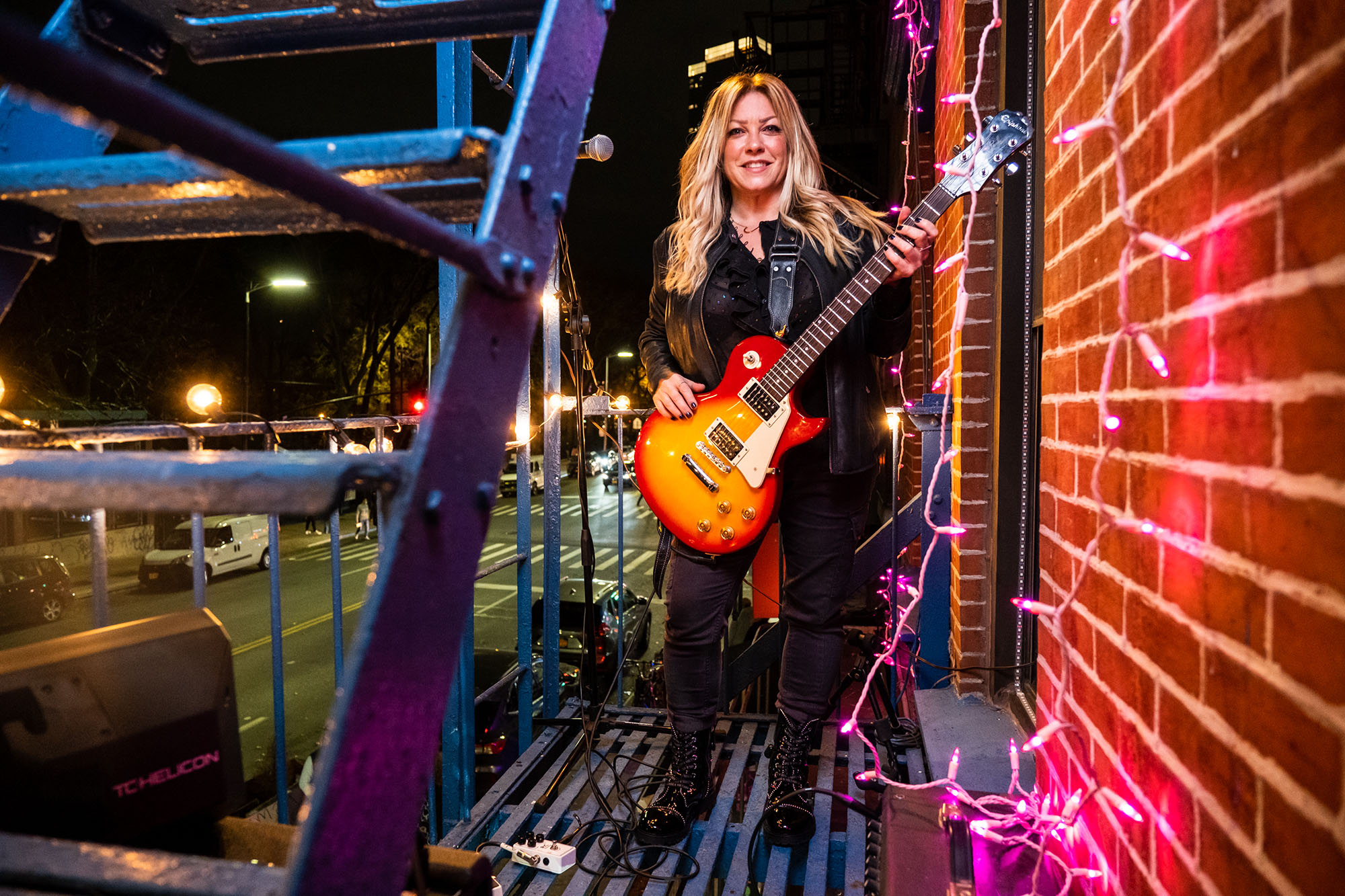 How an NYC guitarist turned her fire escape into a wild music venue