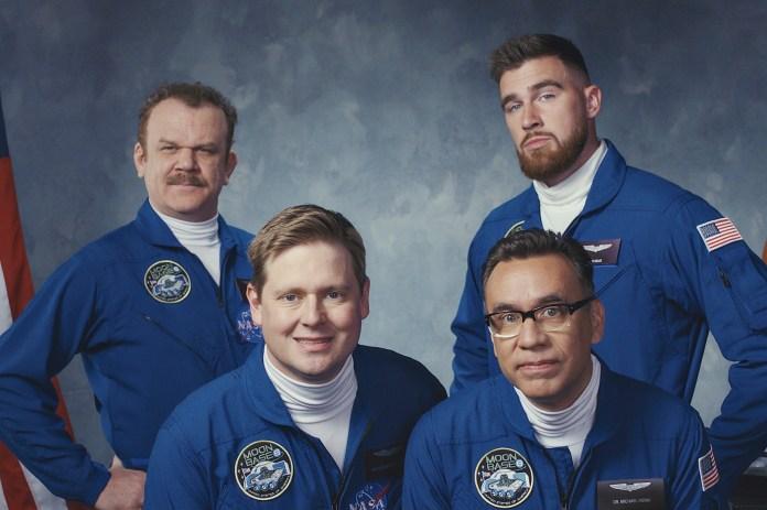 Three dim-bulb astronaut wannabes land on 'Moonbase 8'