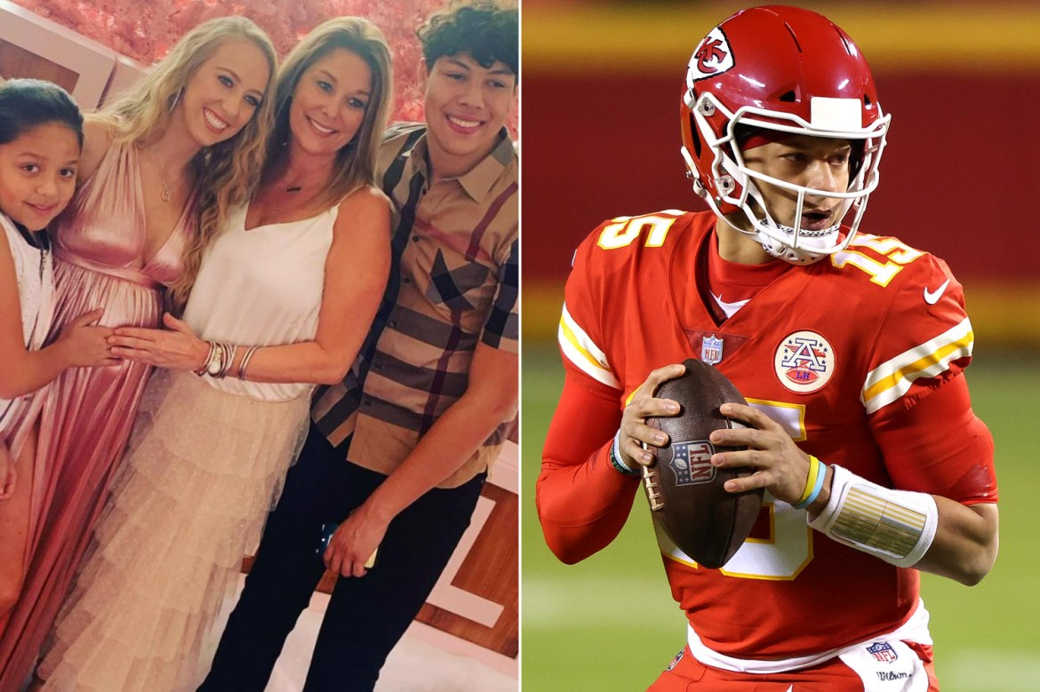 Pregnant Brittany Matthews enjoys glamorous baby shower before Chiefs win 1