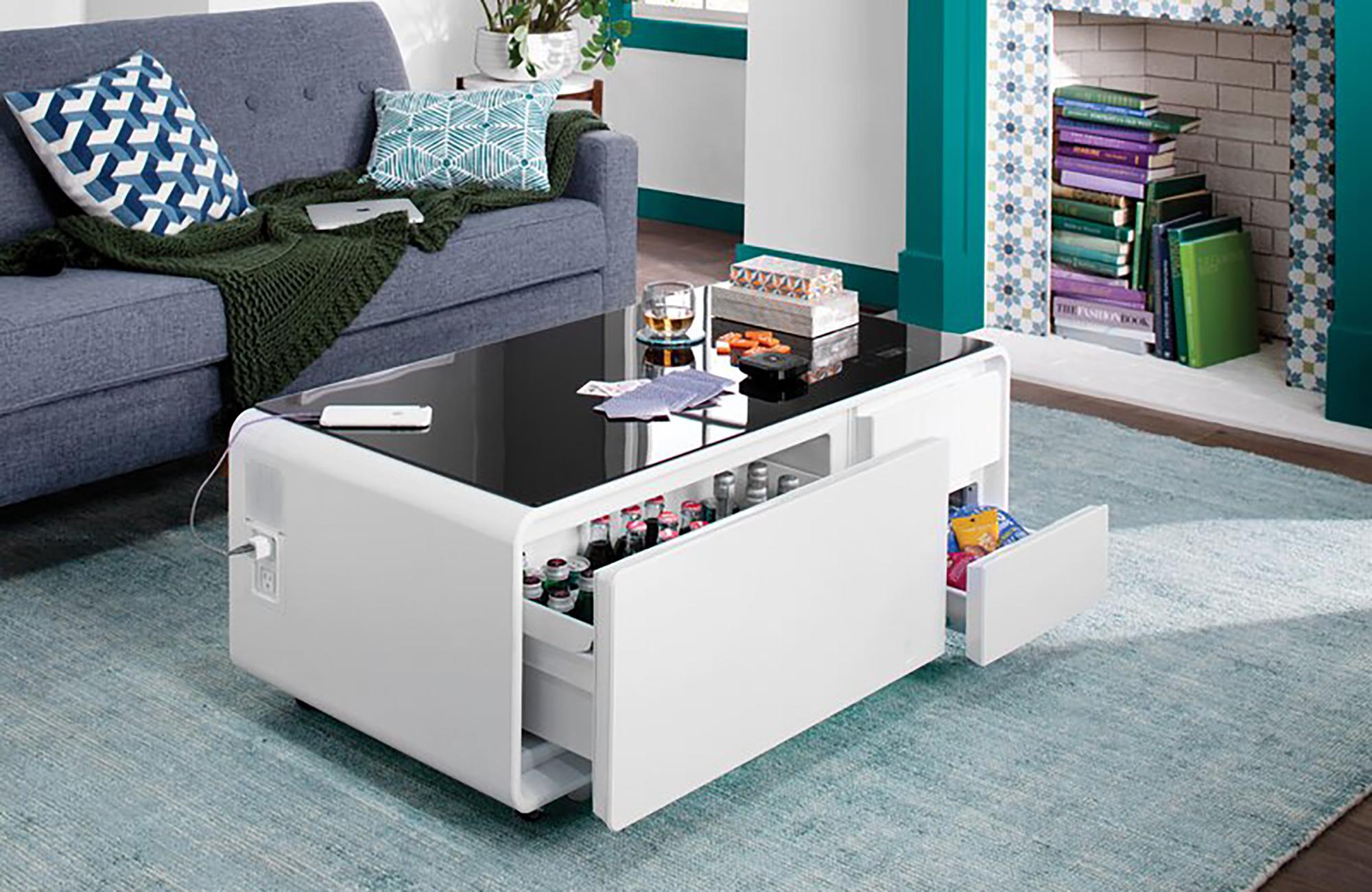 smart mini fridge coffee table