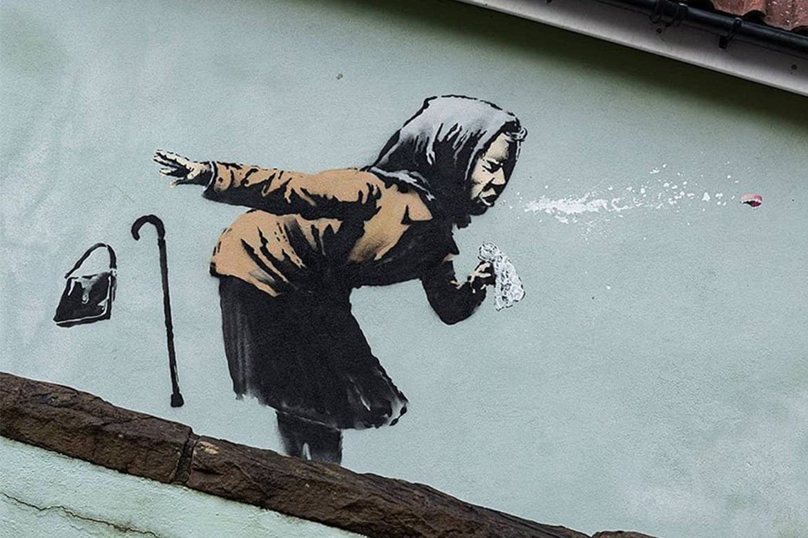 English house with Banksy artwork still up for sale, owners say 1