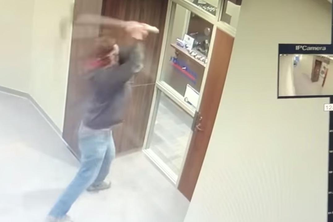 Ax-wielding vandal smashes windows of North Dakota senator's office