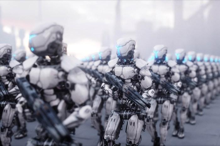 Robot soldier rendering