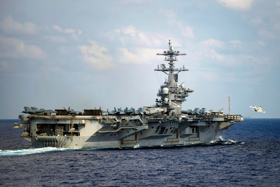 USS Theodore Roosevelt searching for sailor who may have gone overboard 1