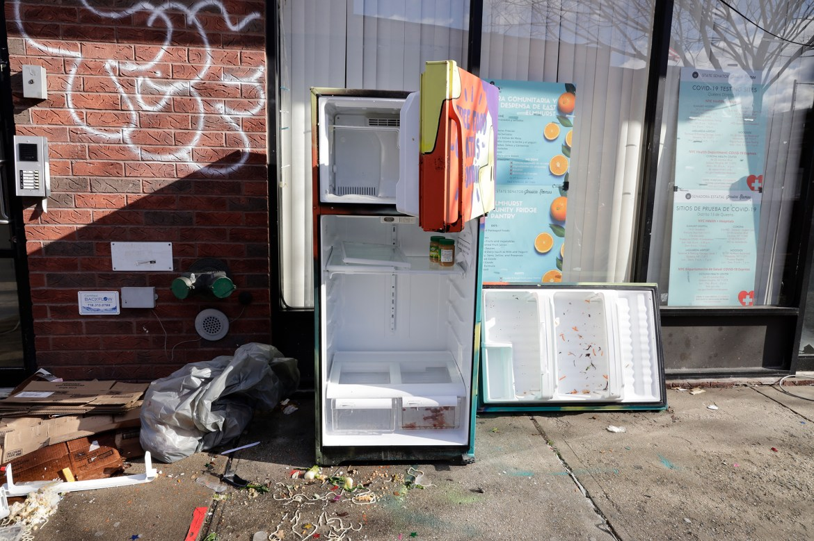 Vandals destroy NYC community fridge set up by state Sen. Jessica Ramos 1