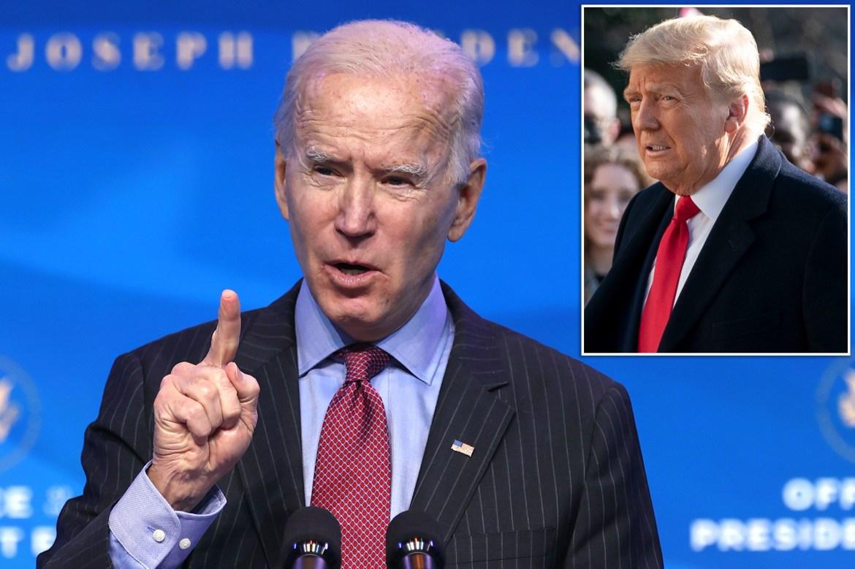 Joe Biden speaks out after Trump impeachment 1