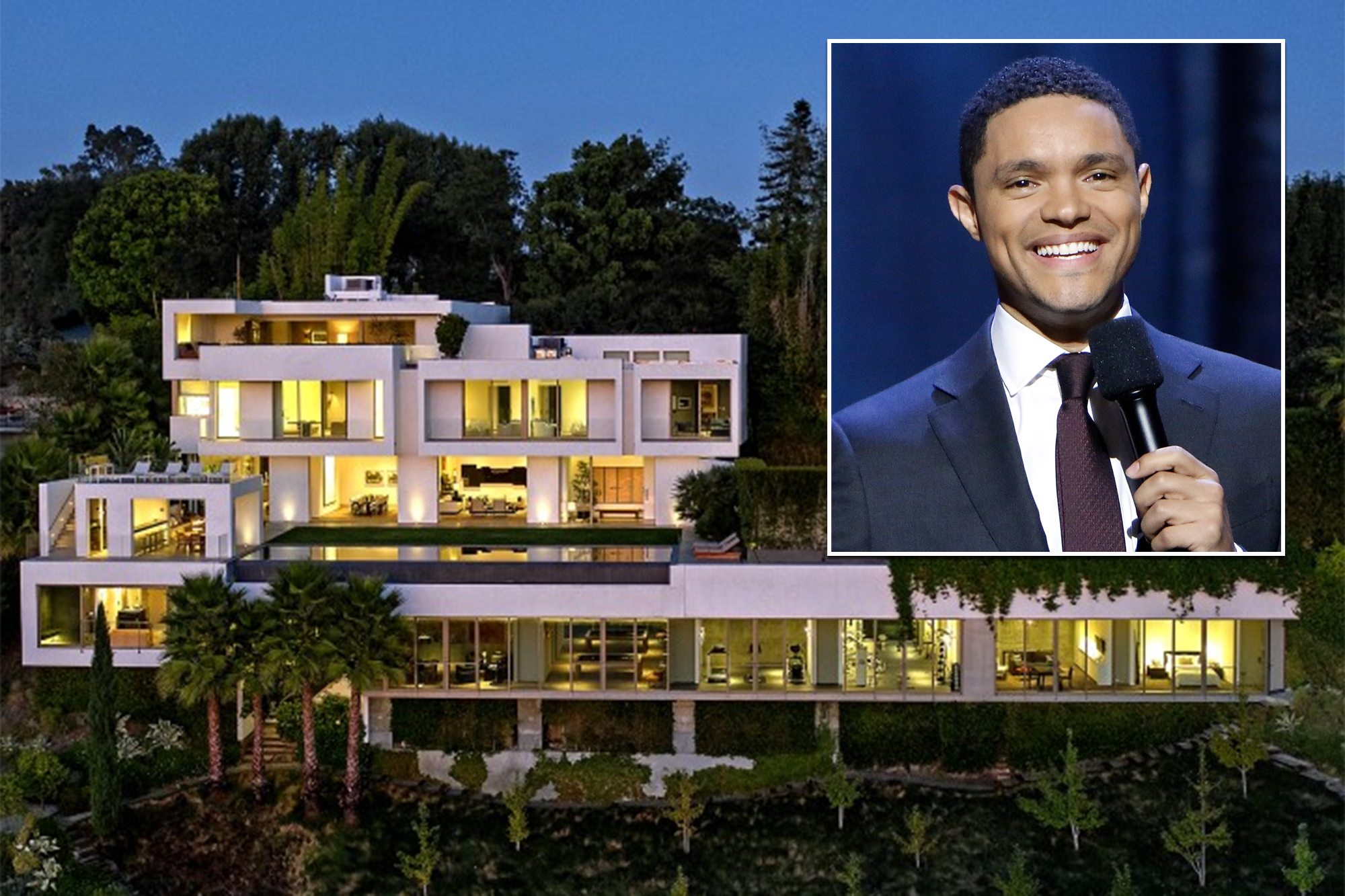 Inside Trevor Noah and Minka Kelly's .5M Bel Air house