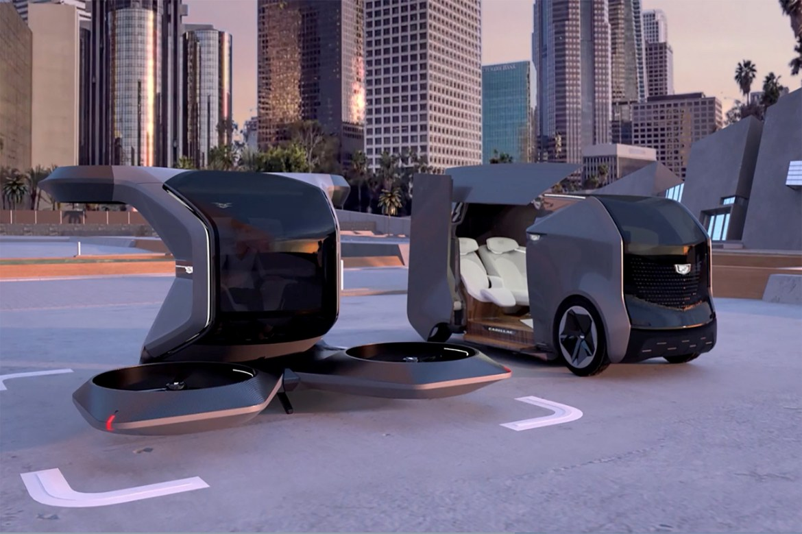 GM unveils self-driving Cadillac that can fly 1