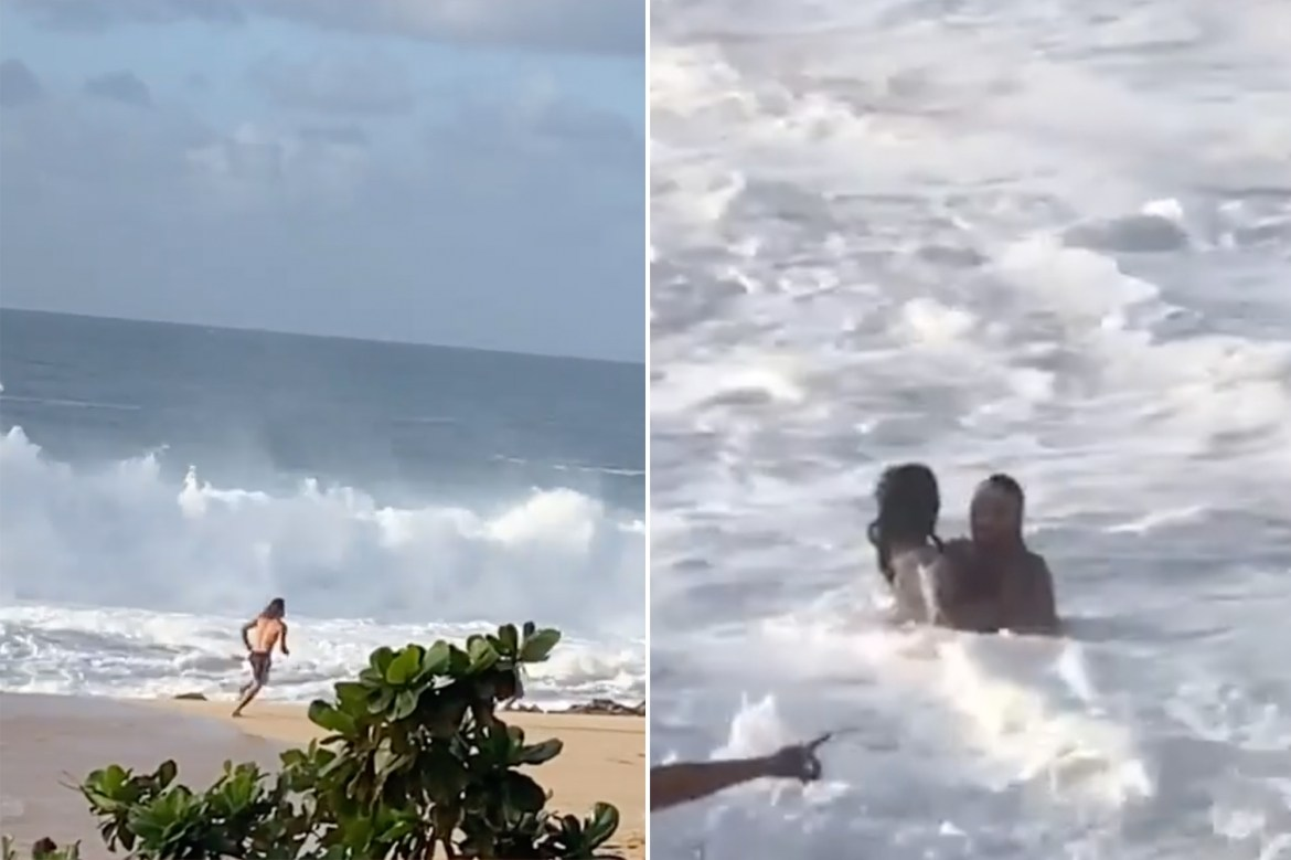'Hold my beer': Australian surfer rescues woman from rip current 1