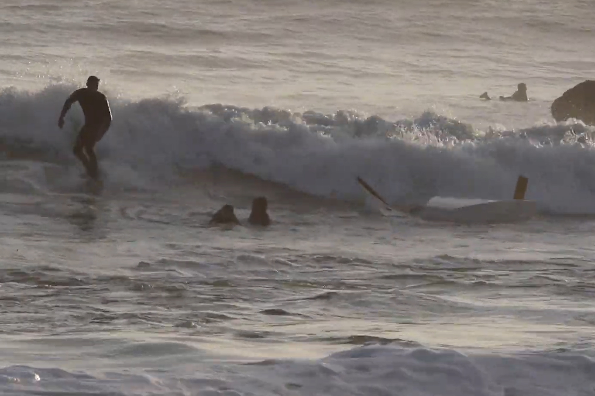 'Students overboard!': Surfers save the day after sailboats capsize (Video)